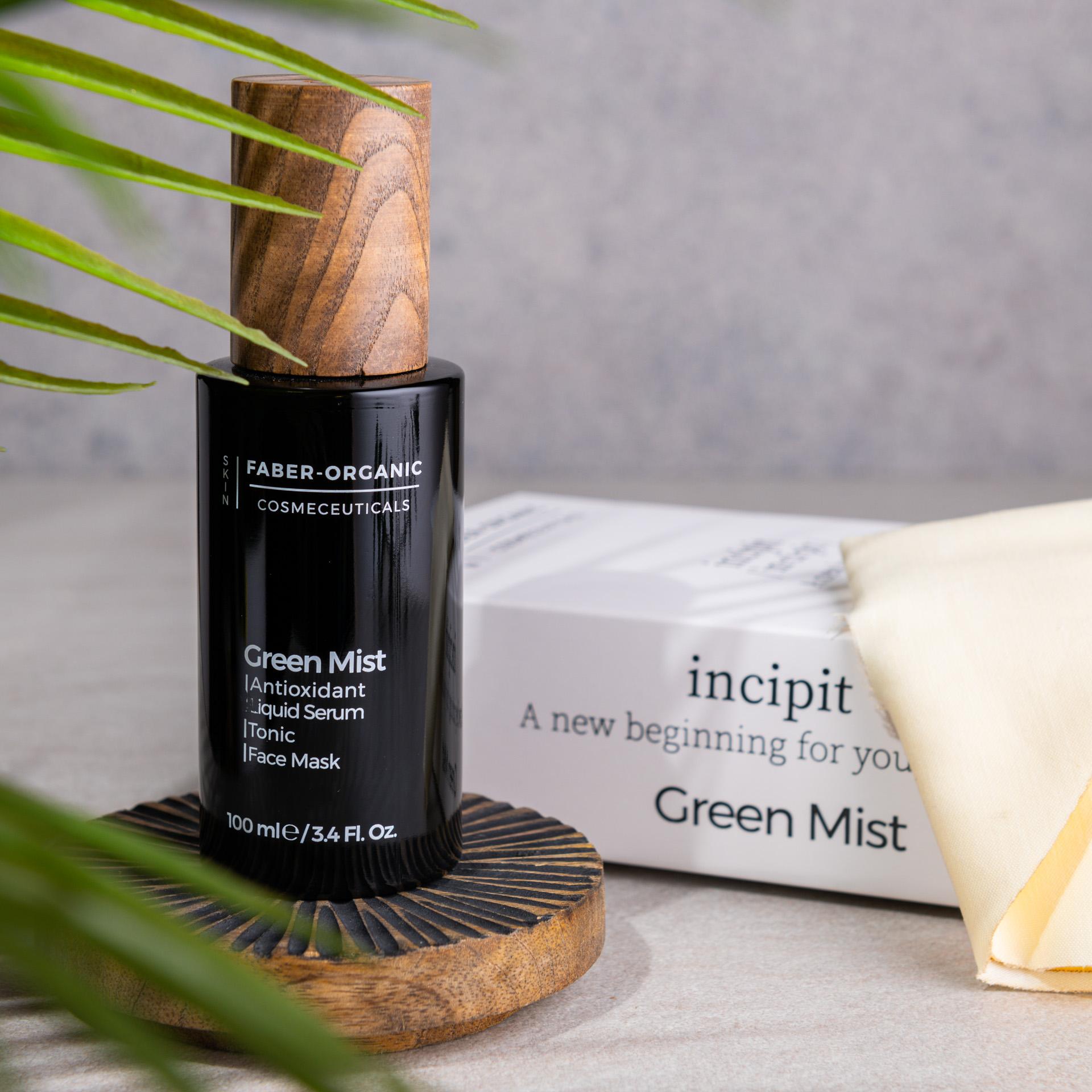 Green Mist - Antioxidant Liquid Serum - Tonic - Face Mask