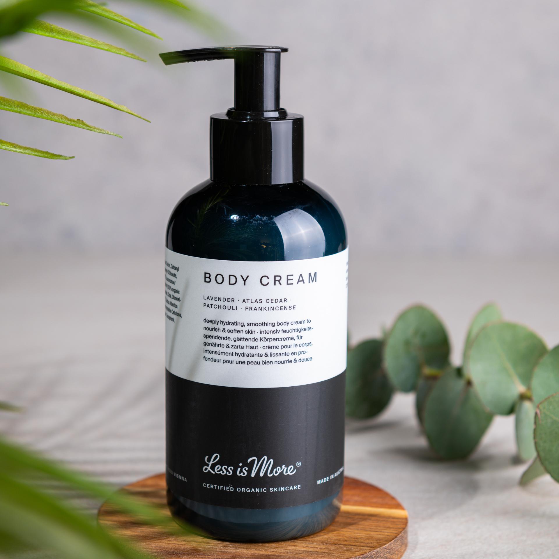 Body Cream Lavender · Atlas Cedar · Patchouli · Frankincense
